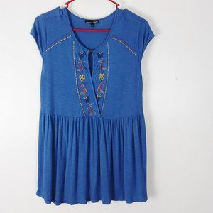Shirt Rxb blue with embroidered design size S